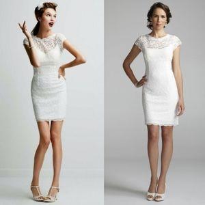 NWT David's Bridal Knee Length Wedding Dress